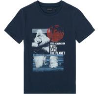Textiel Jongens T-shirts korte mouwen Ikks XS10013-48-C Marine