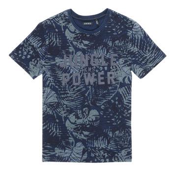 Textiel Jongens T-shirts korte mouwen Ikks XS10153-46-C Marine
