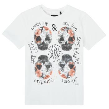 Textiel Jongens T-shirts korte mouwen Ikks XS10513-19-J Wit