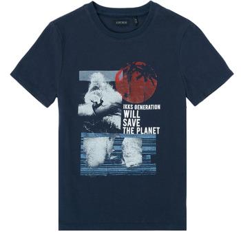 Textiel Jongens T-shirts korte mouwen Ikks XS10013-48-J Marine