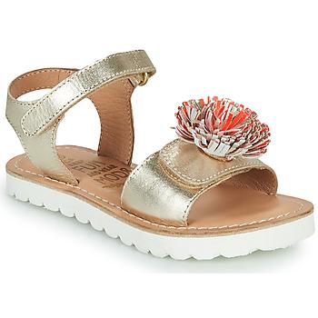 Schoenen Meisjes Sandalen / Open schoenen Mod'8 JELLINE Goud / Corail