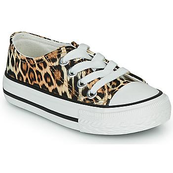 Schoenen Meisjes Lage sneakers Citrouille et Compagnie OTAL Leopard
