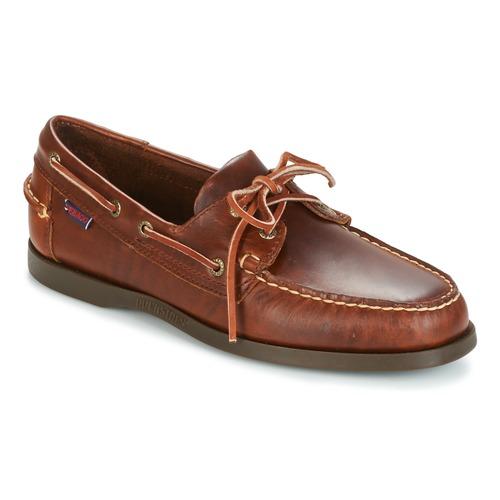 Schoenen Heren Bootschoenen Sebago DOCKSIDES Brown