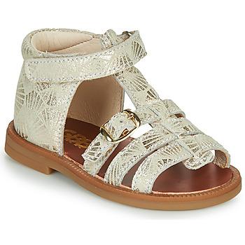Schoenen Meisjes Sandalen / Open schoenen GBB PHILIPPINE Beige / Goud