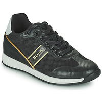 Schoenen Jongens Lage sneakers BOSS TRAMMI Zwart / Goud