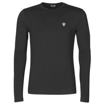 Textiel Heren T-shirts met lange mouwen Emporio Armani EA7 8NPTL9-PJ03Z-1200 Zwart