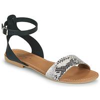 Schoenen Dames Sandalen / Open schoenen Betty London GIMY Zwart / Grijs