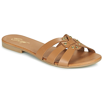 Schoenen Dames Leren slippers Betty London OISO  camel