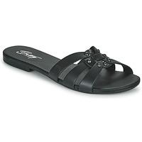 Schoenen Dames Leren slippers Betty London OISO Zwart