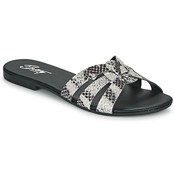 Schoenen Dames Leren slippers Betty London OIGILE Grijs