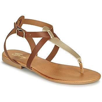 Schoenen Dames Sandalen / Open schoenen Betty London ORIOUL  camel / Goud