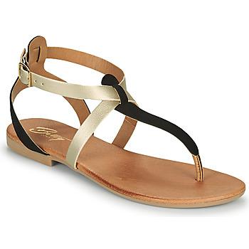 Schoenen Dames Sandalen / Open schoenen Betty London ORIOUL Zwart / Goud