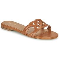 Schoenen Dames Leren slippers Minelli NANCIA Brown