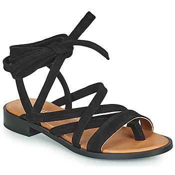 Schoenen Dames Sandalen / Open schoenen Minelli HURIA Zwart