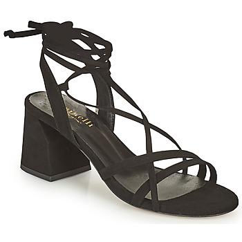Schoenen Dames Sandalen / Open schoenen Minelli TATIA Zwart