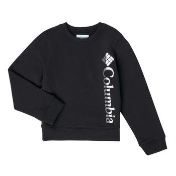Textiel Meisjes Sweaters / Sweatshirts Columbia COLUMBIA PARK FRENCH TERRY CREW Zwart