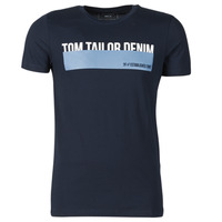 Textiel Heren T-shirts korte mouwen Tom Tailor DENIM BAND Marine