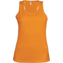 Textiel Dames Mouwloze tops Proact Débardeur femme  Sport orange