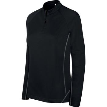 Textiel Dames Trainings jassen Proact Sweat femme  Running 1/4 Zip noir