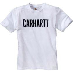Textiel T-shirts korte mouwen Carhartt T-shirt  Block blanc