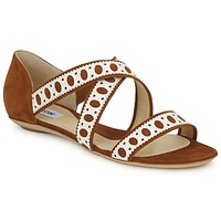 Schoenen Dames Sandalen / Open schoenen Moschino DELOS SAND  camel / Ivory
