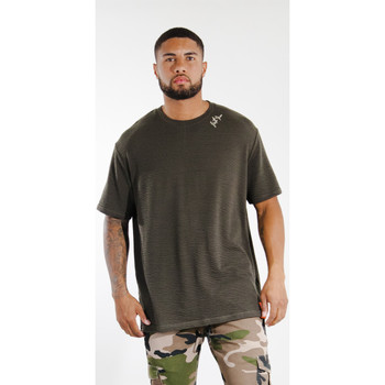 Textiel Heren T-shirts korte mouwen Sixth June T-shirt  logo épaule kaki