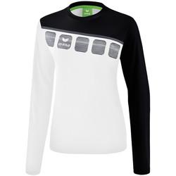 Textiel Dames Sweaters / Sweatshirts Erima Haut d'entrainement femme manches longues  5-C blanc/noir/gris