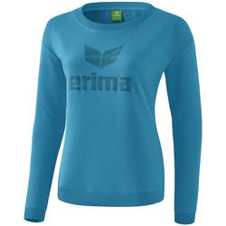 Textiel Dames T-shirts met lange mouwen Erima Sweat-shirt femme  Essential bleu clair/bleu