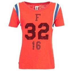 Textiel Dames T-shirts korte mouwen Franklin & Marshall POINTO CORAIL