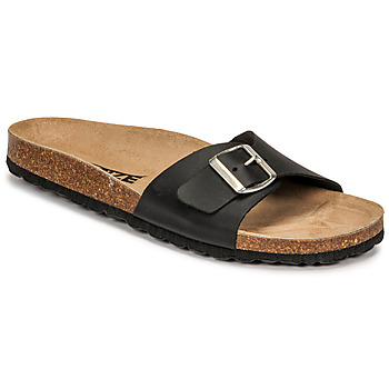 Schoenen Dames Leren slippers So Size OLOHA Zwart