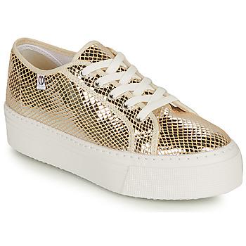 Schoenen Dames Lage sneakers Yurban SUPERTELA Goud