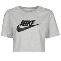 Textiel Dames T-shirts korte mouwen Nike NSTEE ESSNTL CRP ICN FTR Grijs / Zwart