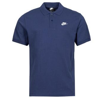 Textiel Heren Polo's korte mouwen Nike NSSPE POLO MATCHUP PQ Marine / Wit