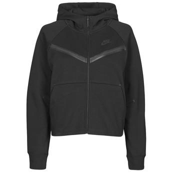 Textiel Dames Trainings jassen Nike NSTCH FLC WR ESSNTL FZ HDY Zwart
