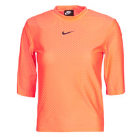 Textiel Dames T-shirts korte mouwen Nike NSICN CLSH TOP SS MESH Orange
