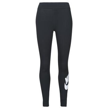 Textiel Dames Leggings Nike NSESSNTL GX HR LGGNG FTRA Zwart / Wit