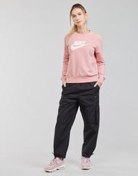 Textiel Dames Trainingsbroeken Nike NSICN CLASH PANT CANVAS HR Zwart / Grijs