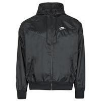 Textiel Heren Windjacken Nike NSSPE WVN LND WR HD JKT Zwart / Wit