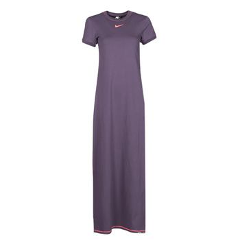 Textiel Dames Lange jurken Nike NSICN CLSH MAXI DRESS Violet / Orange