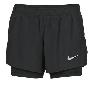 Textiel Dames Korte broeken / Bermuda's Nike 10K 2IN1 SHORT Zwart