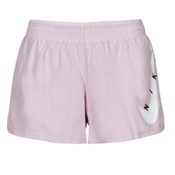 Textiel Dames Korte broeken / Bermuda's Nike SWOOSH RUN SHORT Violet / Wit