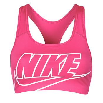 Textiel Dames Sport BHs Nike DF SWSH FUTURA GX BRA Roze / Wit