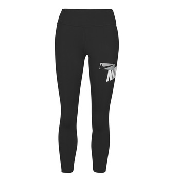 Textiel Dames Leggings Nike NIKE ONE CROP HBR GRX TIGHT Zwart / Wit / Grijs