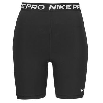 Textiel Dames Korte broeken / Bermuda's Nike NIKE PRO 365 SHORT 7IN HI RISE Zwart / Wit