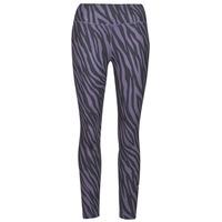 Textiel Dames Leggings Nike NIKE ONE 7/8 AOP TGT ICNCLSH Violet / Zwart
