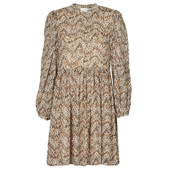 Textiel Dames Korte jurken Vila VISUNARA Beige
