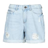 Textiel Dames Korte broeken / Bermuda's Noisy May NMSMILEY Blauw / Clair