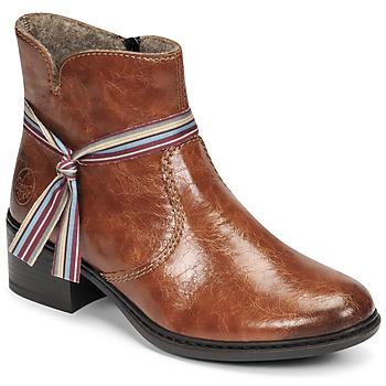 Schoenen Dames Enkellaarzen Rieker  Brown