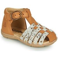 Schoenen Meisjes Sandalen / Open schoenen Citrouille et Compagnie RINE  camel / Goud