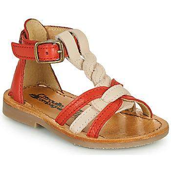 Schoenen Meisjes Sandalen / Open schoenen Citrouille et Compagnie GITANOLO Corail / Roze
